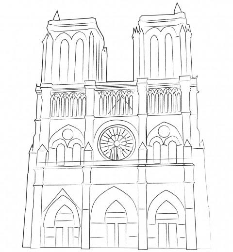 Notre Dame De Paris Je Colorie Paris Par Equipe Globekid Globekid