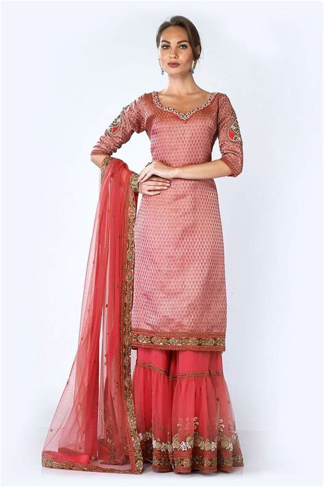 Banarsi Brocade Gharara, Indian Suits, Designer, Latest