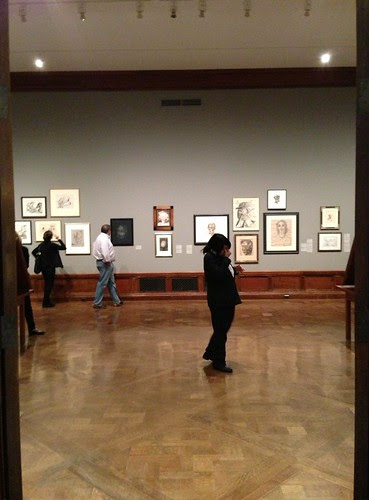 At the Surrealist Drawing Exhibit, Morgan Library