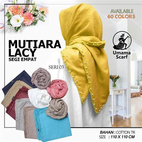 kerudung mutiara lacy  umama scarf jilbab segi empat