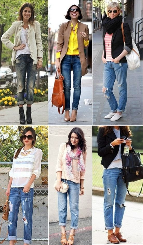 boyfriend jeans - Click image to find more Hair & Beauty Pinterest pins