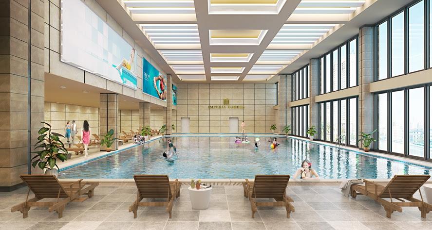 Bể bơi 4 mùa trong nhà Imperia Garden