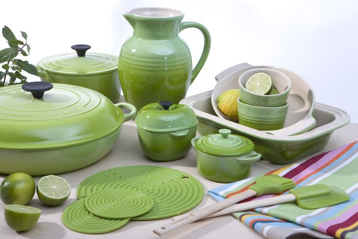 Love Le Creuset pieces, especially the Kiwi color. So sad they discontinued it.