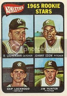 #526 Athletics Rookie Stars: Rene Lachemann, Johnny Odom, Skip Lockwood, Jim Hunter