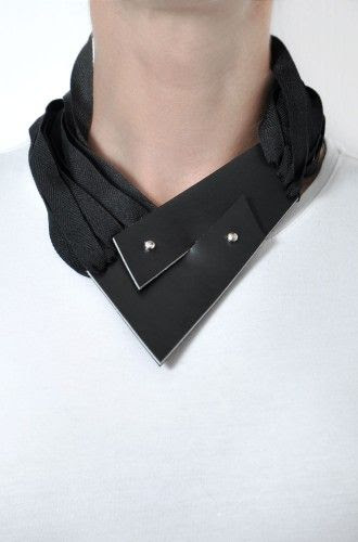 contemporary black leather necklace http://aumorfia.com/shop/zz/#sthash.VbviSpr8.dpuf