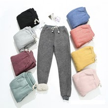 Autumn Winter Women Fleece Sweatpants Trousers Casual Thick Velvet Loose Cashmere Sweatpants Tracksuit Pants