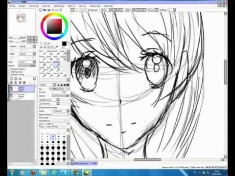 how to draw anime on a computer using a mouse