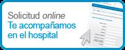 Solicitud online Te acompañamos en el hospital
