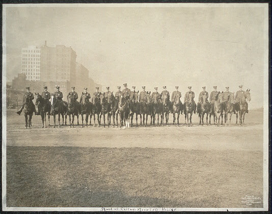 Squad of Chicago Mounted Police