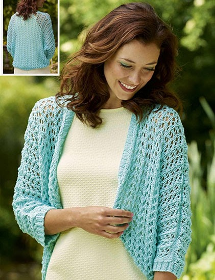 Craft Passions: Bolero Shrug .# free # knitting pattern ...