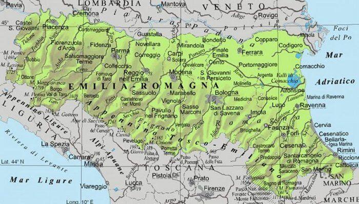 Cartina Geografica Lombardia E Emilia Romagna.Cartina Emilia Romagna Da Stampare Acolore