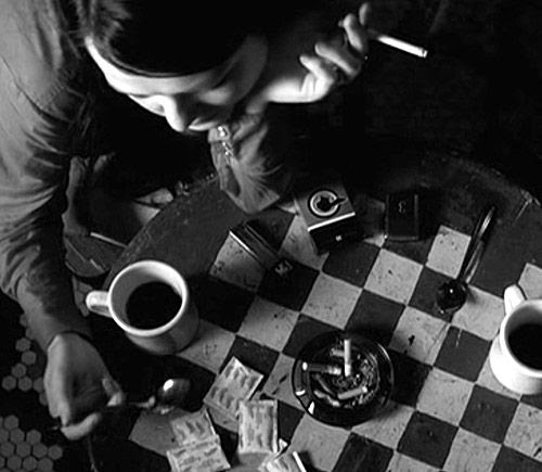 """Meg White in Jim Jarmusch's """"Coffee and Cigarettes"""""""