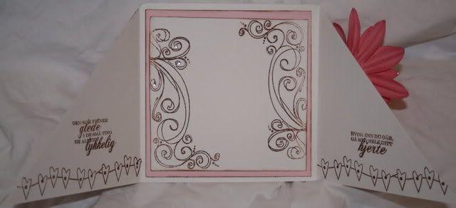 Bryllupskort - inni