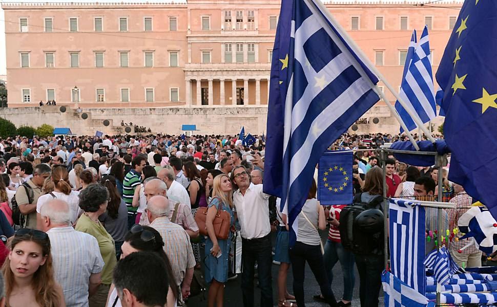 """""""Oxi x Nai"""": crise na Grécia"""