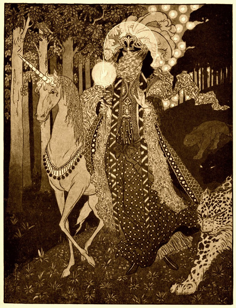 Sidney Sime - Romance Comes Down Out Of Hilly Woodlands (1910)