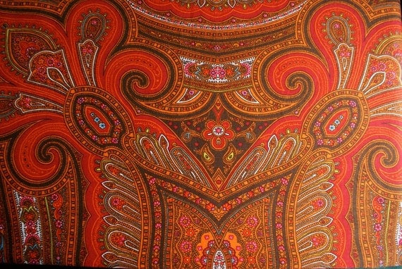 Orange and Brown Fabric