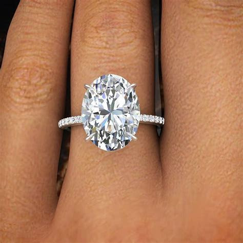 2.00 Ct Natural Oval Cut Pave Diamond Engagement Ring GIA