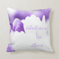 Love Quote Throw Pillow Purple