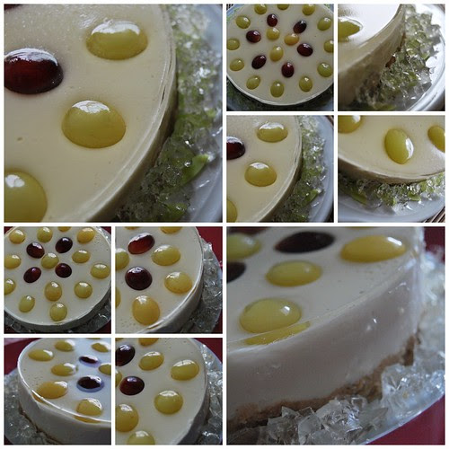 Collage tarta uvas