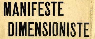 Manifeste Dimensioniste