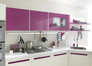 082132673033 Kitchen Set Bernuansa Ungu Yang Elegan Kitchen Set Minimalis Dewape Interior