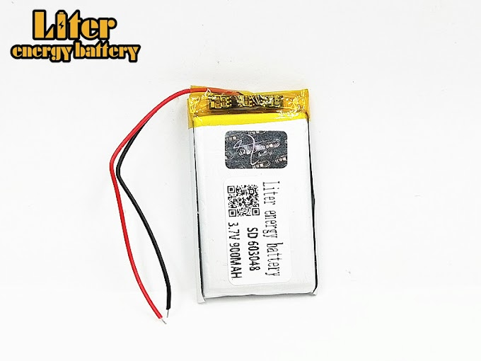 Rechargeable 3.7V 900mAH 603048 polymer lithium ion / Li-ion battery for drone dvr mp5 GPS mp3 mp4 PDA power bank speaker