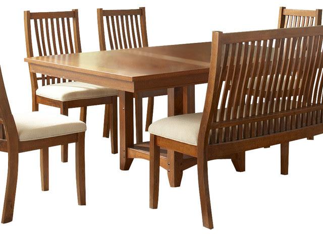 Steve Silver Tulsa 64x48 Dining Table - Contemporary - Dining ...