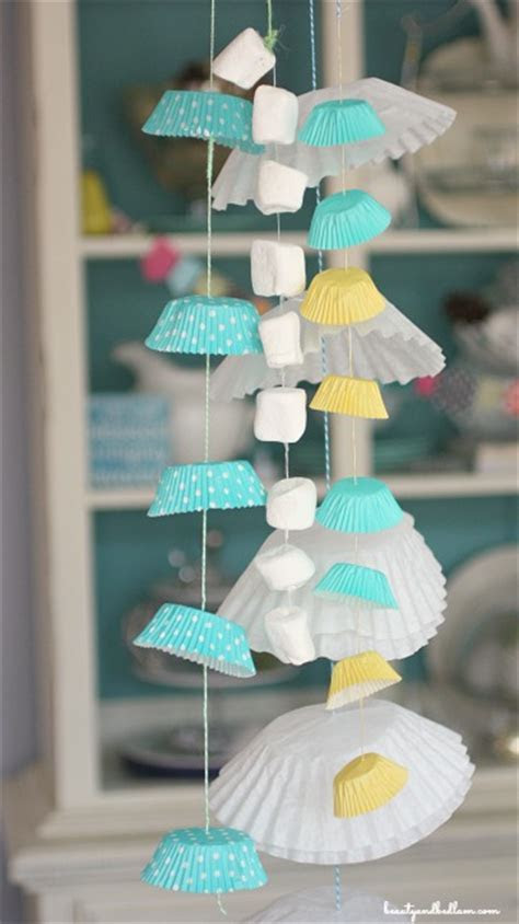 Marshmallow, Cupcake & Coffee Filter Garland: Easy Party