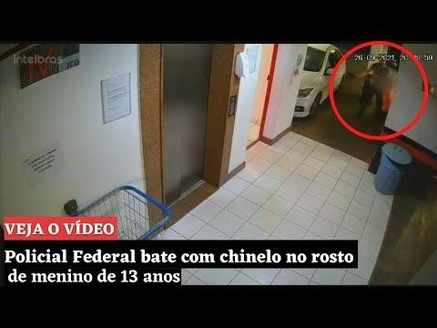 VÍDEO: agente da Polícia Federal bate com chinelo no rosto de menino de 13 anos