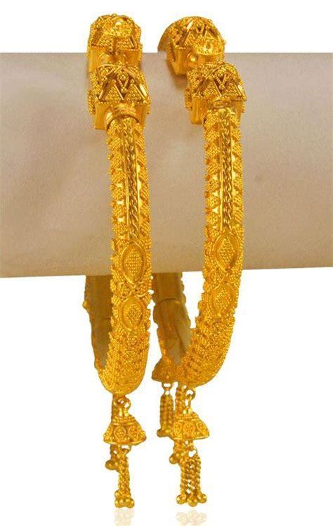 22 Karat Gold Kada (2PC)   BaKa23423   [Bangles > Kadas]