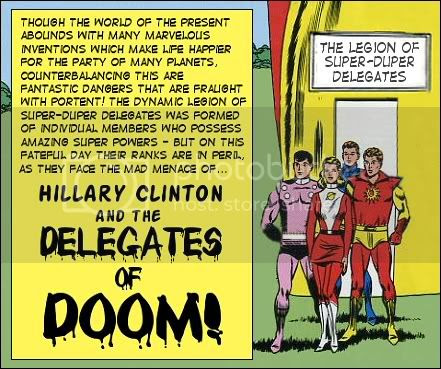 Hillary Clinton and the Legion of Delegates of Doom