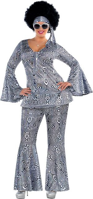 adult dancing queen disco costume plus size  party city