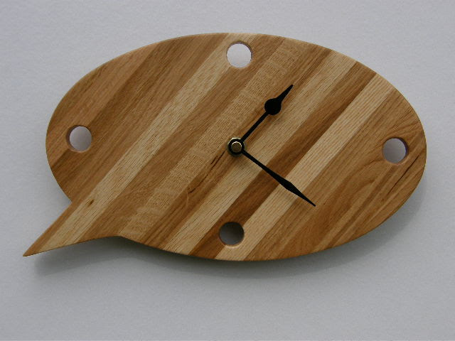 Oak Speech Bubble Clock by Aftertrees