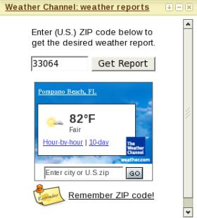 weather channel widget gadget