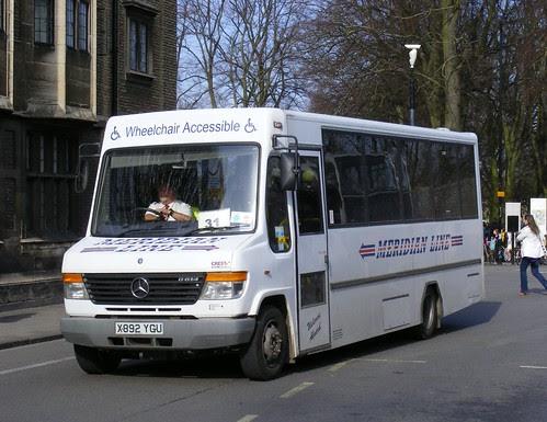 Meridian Line Travel . ( Dawes ) Kneesworth, Royston , Cambridgeshire .   X892YGU . Emanuel Street , Cambridge . Saturday 12th-March-2011 . by AndrewHA .