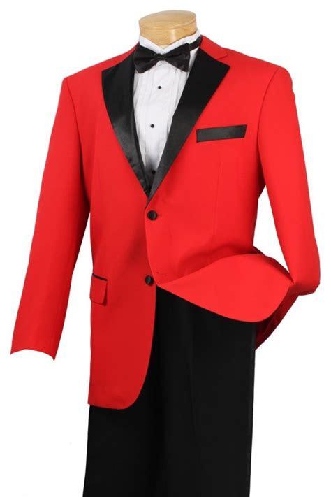tuxedo red  black  button fashion tuxedo prom tuxedo