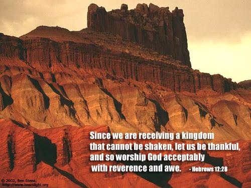 Inspirational illustration of Hebrews 12:28