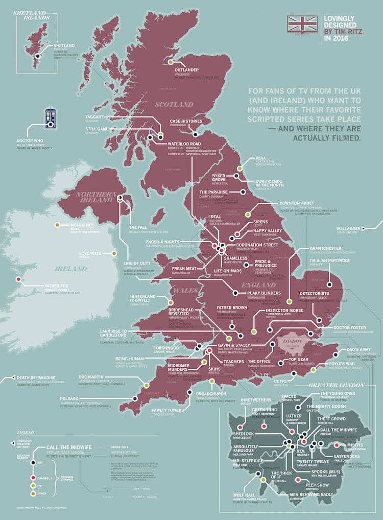Great Britain TV Map