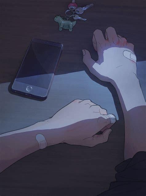 anime aesthetic phone call gif  animatr find share