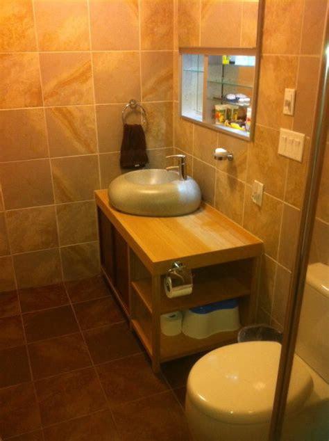earthy bathroom modern bathroom nashville  poshhaus