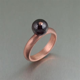 Copper Ring with Garnet Gemstone