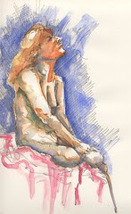 life drawing + colour