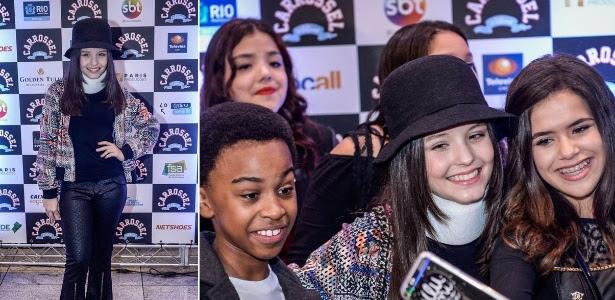 """Jean, Larissa e (ex) Maisinha no lançamento do primeiro """"Carrossel"""", ano passado"""