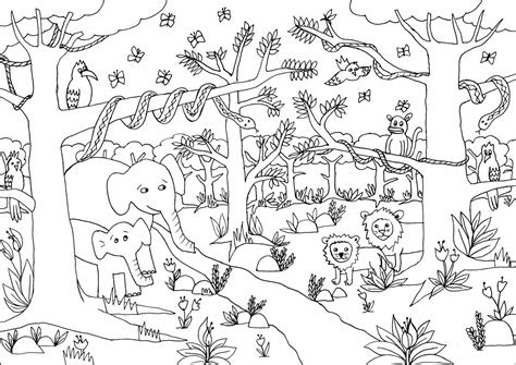 african jungle coloring pages coloring pages