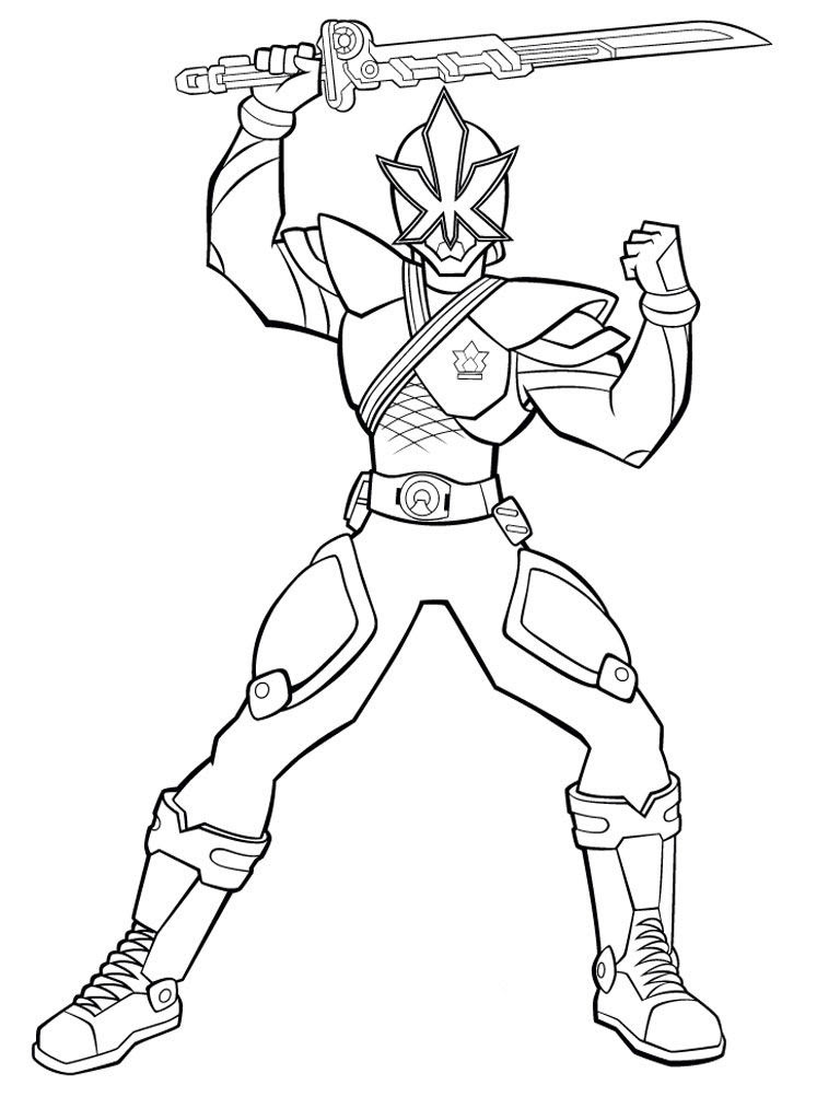 Blue Power Ranger Coloring Pages at GetDrawings | Free ...