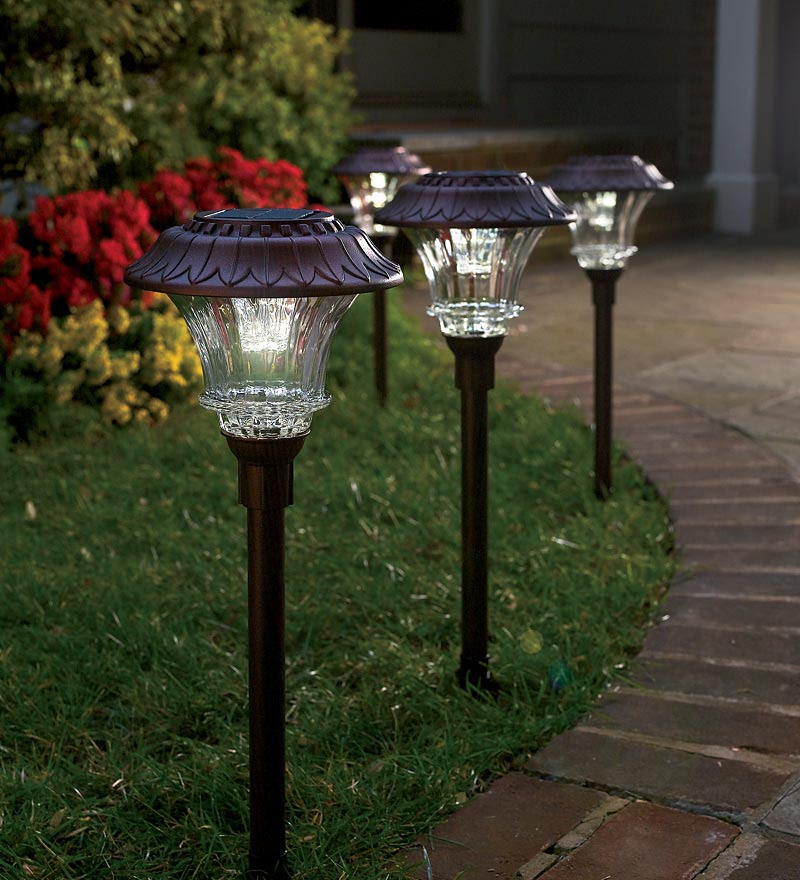House Of Quirk Pack Of 10 Solar Path Lights Led For Yard