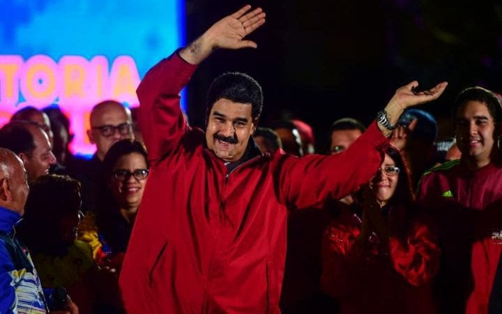 "Nicolas Maduro celebrates the results of ""Constituent Assembly"", in Caracas"