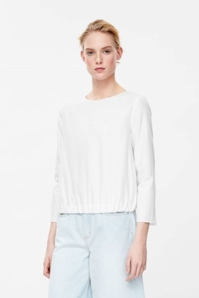 COS Gathered Hem Top