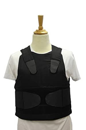 VIP Concealable Vest Chest protector body armor vest color black size M-XL By Best Security Gear (Black, XL)