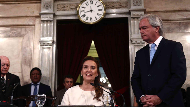 Gabriela Michetti en el Congreso, el día de la asunción de Mauricio Macri. Foto: Archivo